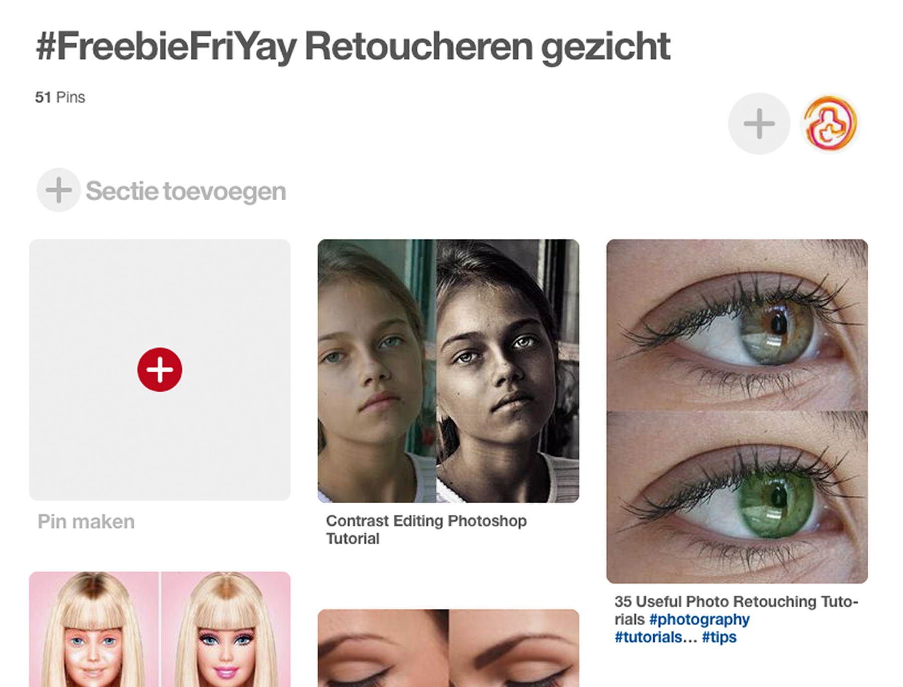 FreebieFriyay #4 - Retoucheren op Pinterest