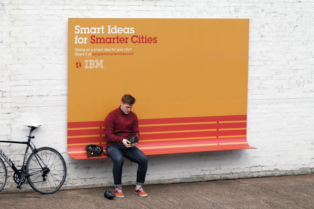 Creatieve buitenreclame van IBM