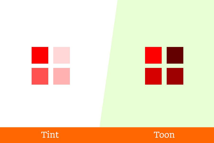 Grafische-termen-verkeerd-begrepen tint-toon