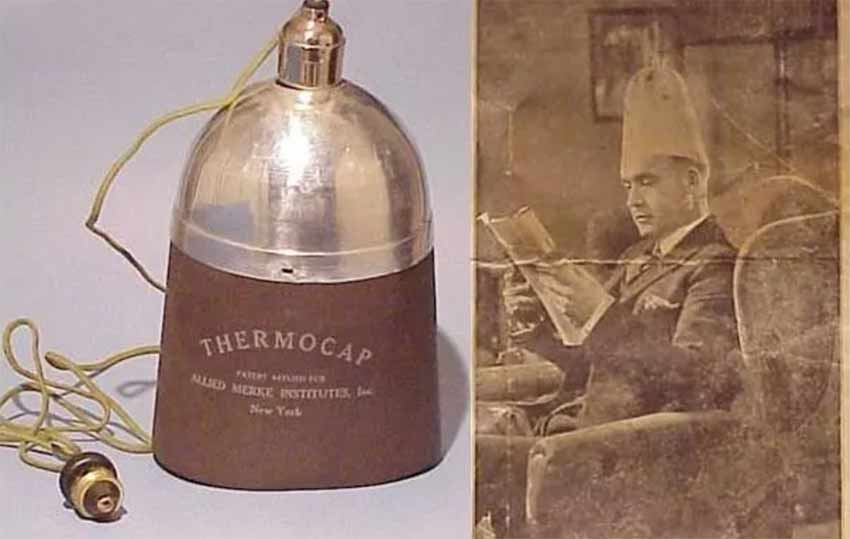 Thermocap used for hair growth Image title: Hair growth using thermocap