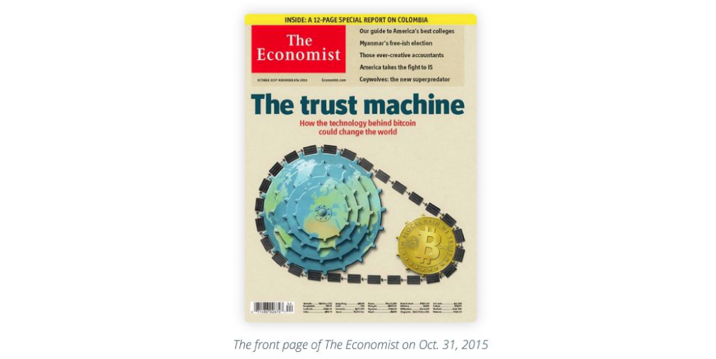 The front page of The Economist