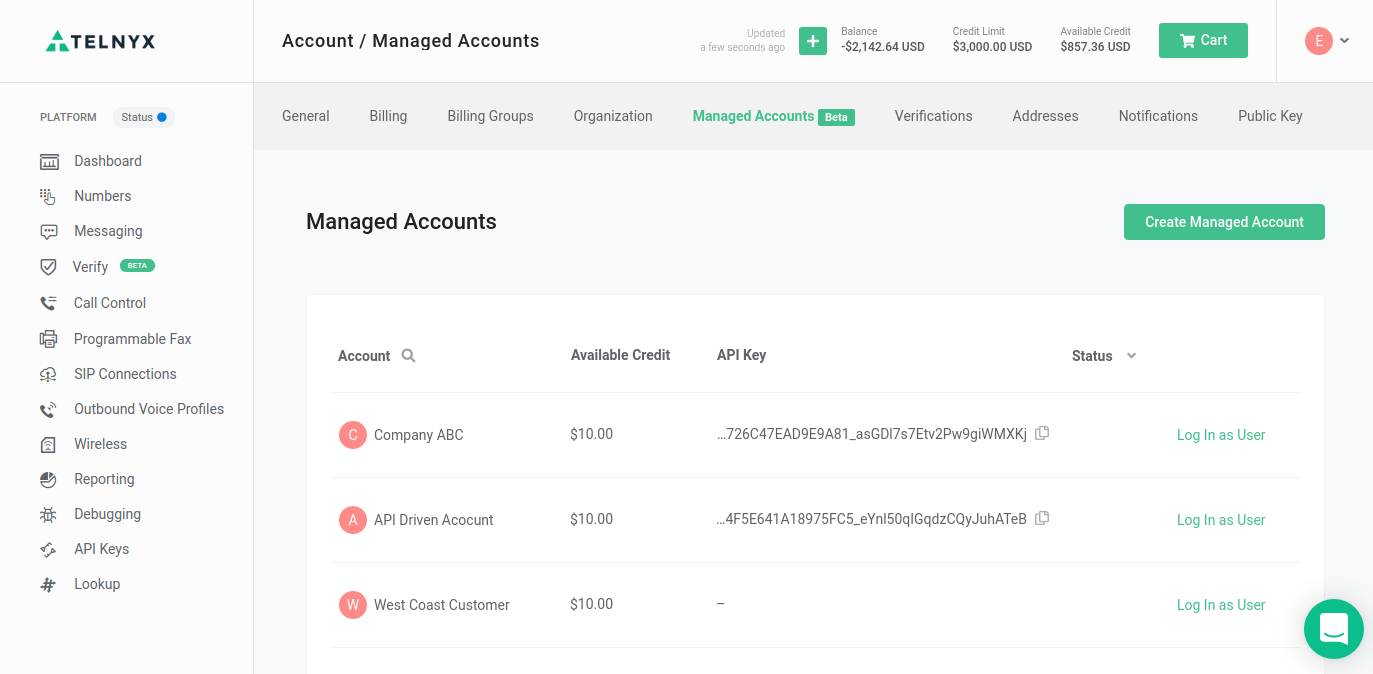 Managed Account Section
