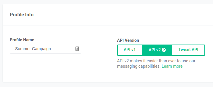 Messaging Webhook Version