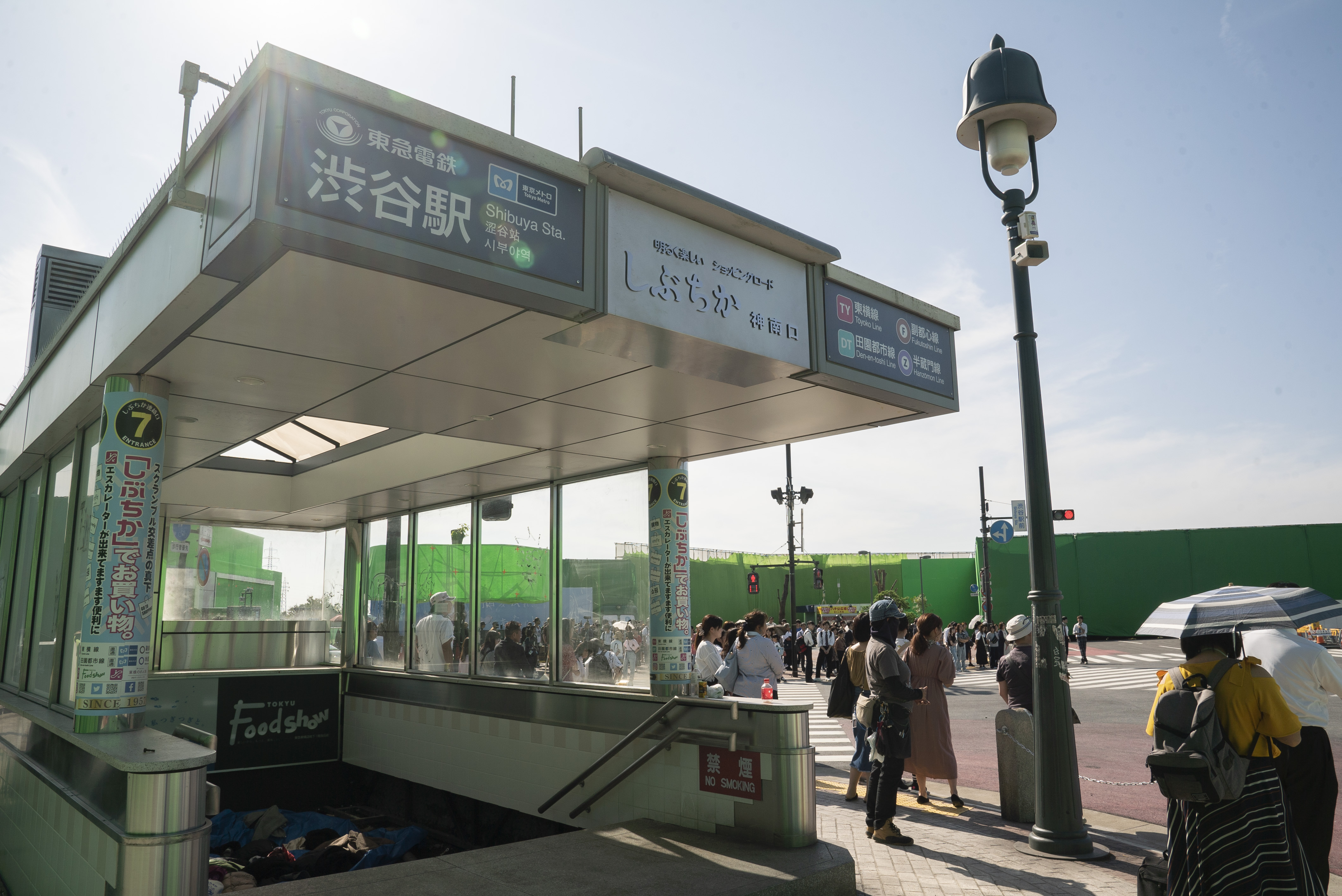 The outdoor set for Alice in Borderland in Ashikaga city, 100 km away from the actual Shibuya Station