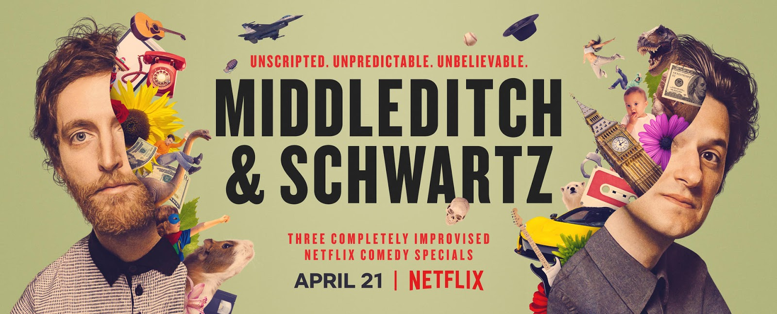 Netflix Releases Official Trailer For Middleditch & Schwartz,  A Collection of Three Completely Improvised Comedy Specials
