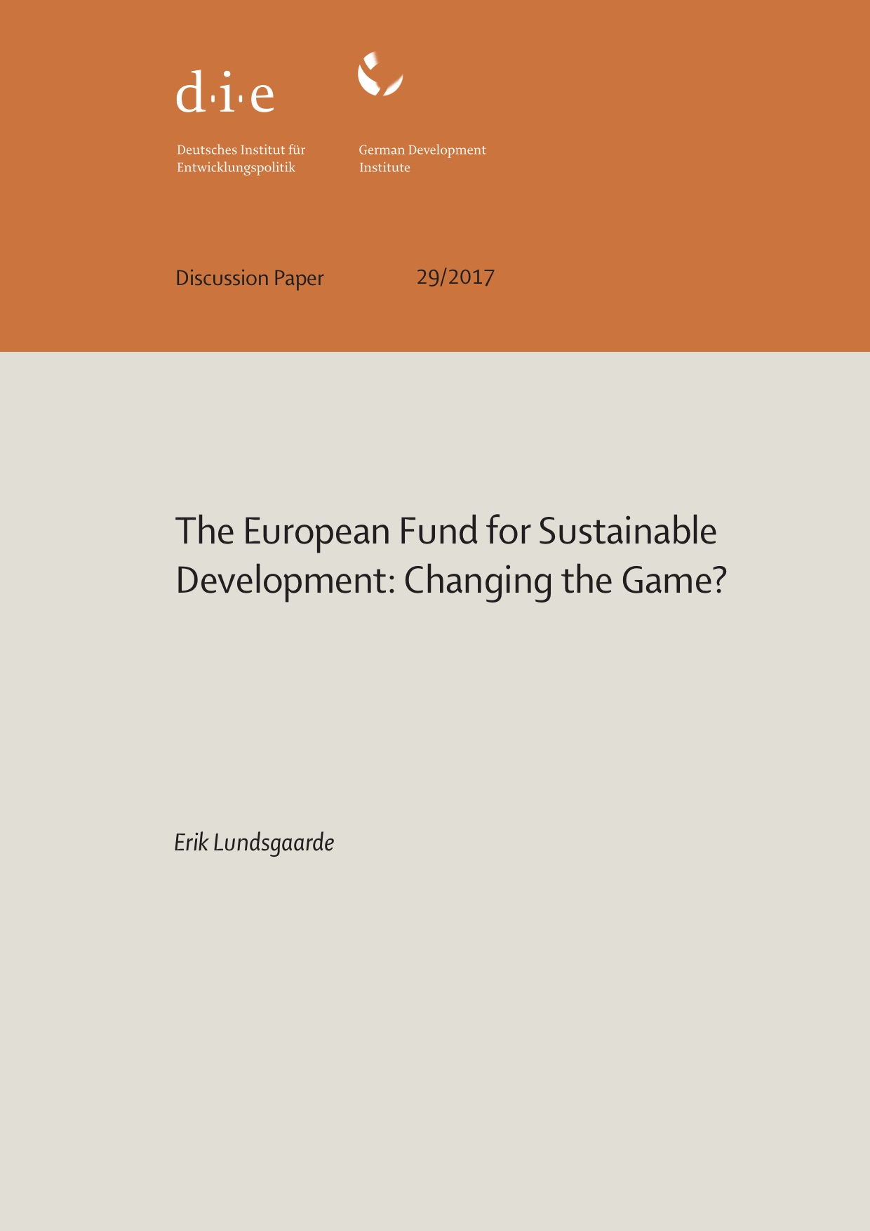The European Fund for Sustainable Development: Changing the Game?