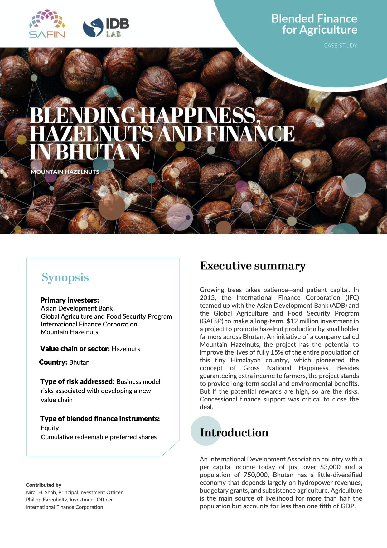 Blending Happiness, Hazelnuts and Finance in Bhutan