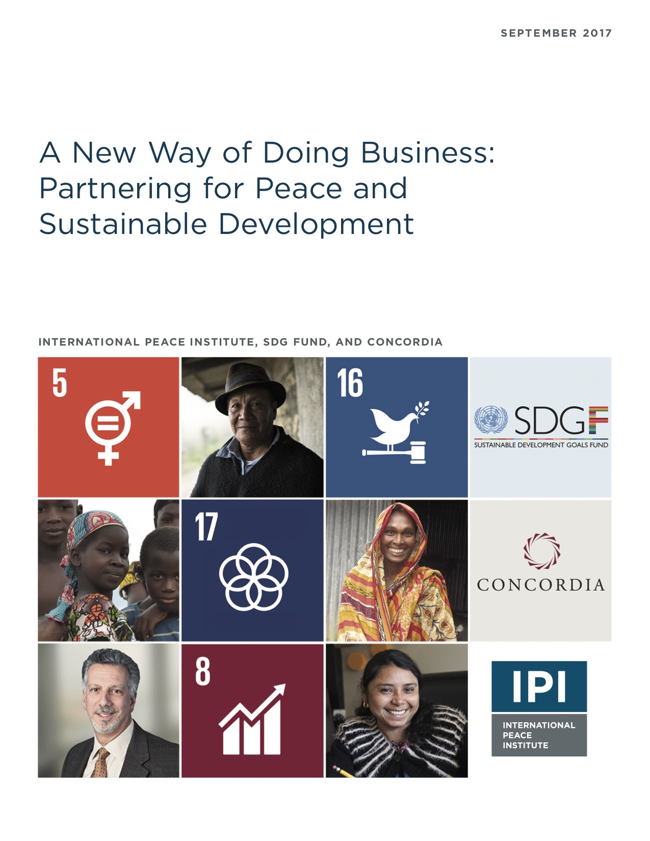 A New Way of Doing Business: Partnering for Peace and Sustainable Development