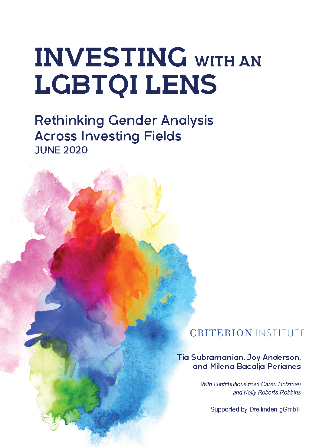Investing with an LGBTQI lens  - Rethinking Gender Analysis Across Investing Fields