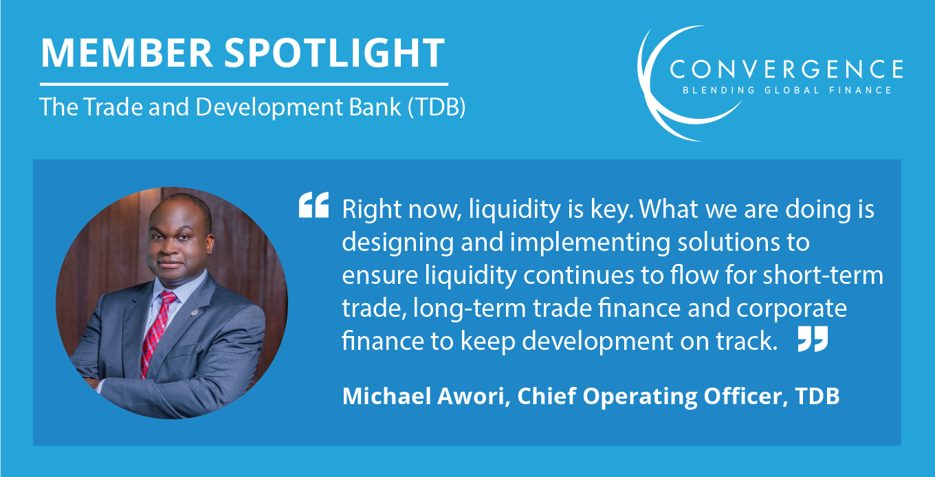 Member Spotlight with Michael Awori from the Trade Development Bank (TDB)