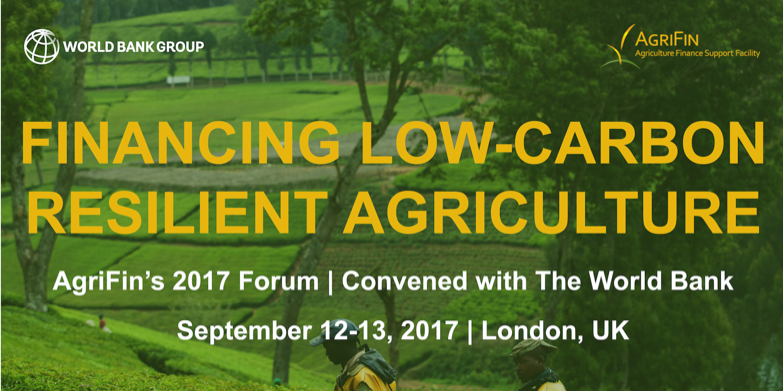 Convergence at the World Bank's Financing Low-Carbon Resilient Agriculture Forum