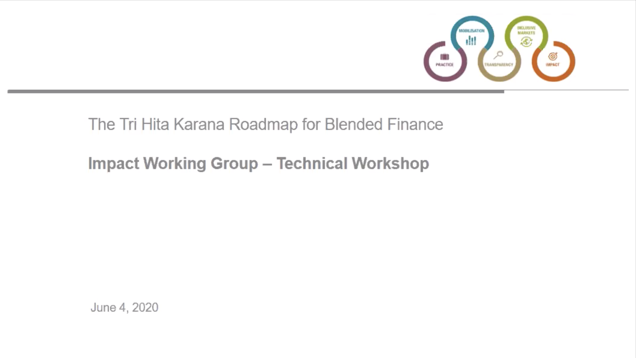 Impact Working Group – Technical Workshop (Video Recording)