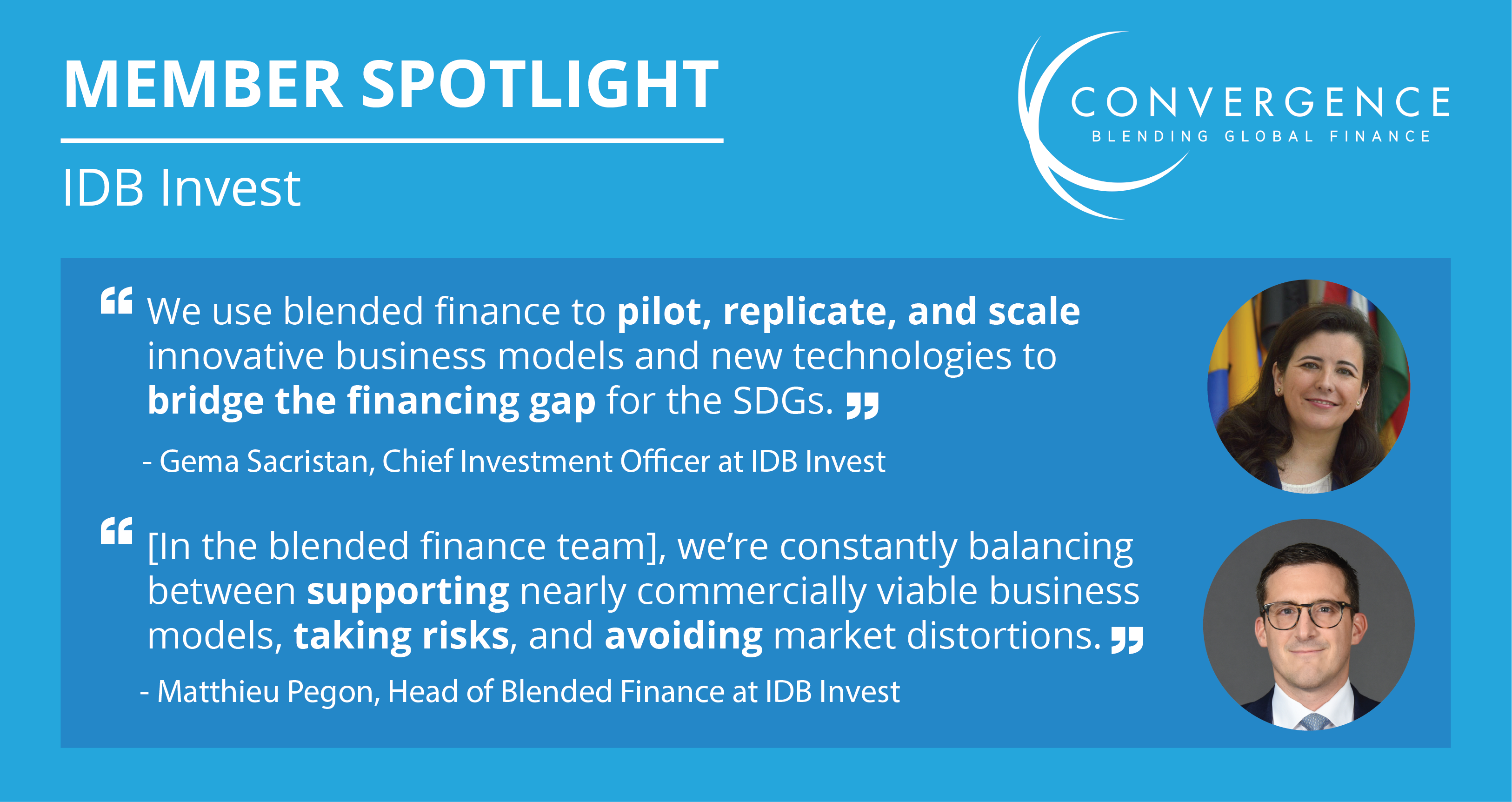Member spotlight with Gema Sacristan & Matthieu Pegon of IDB Invest