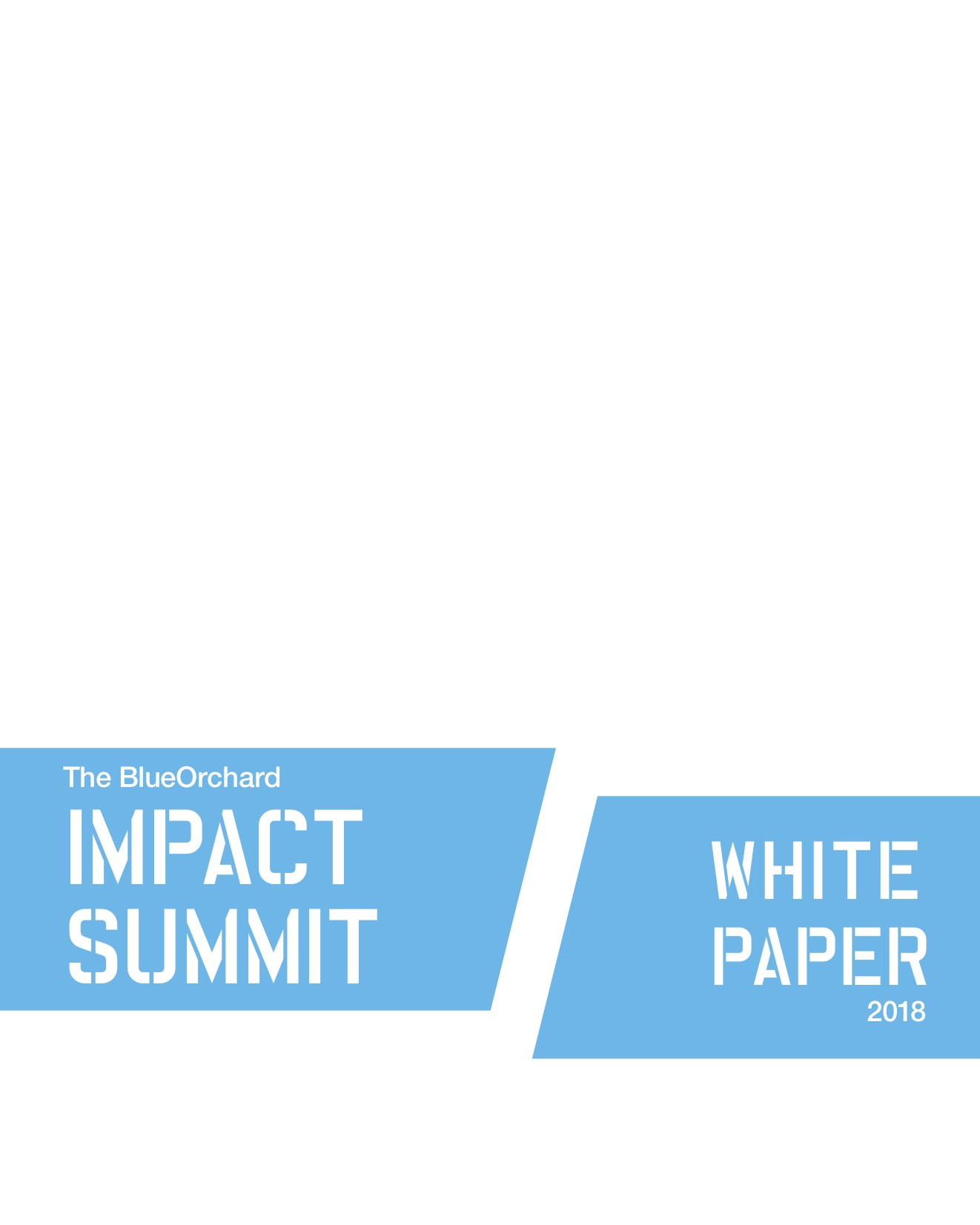 The BlueOrchard Impact Summit White Paper