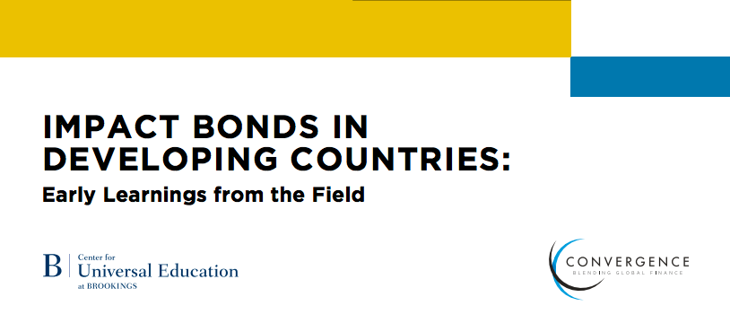 What's next for impact bonds in developing countries?
