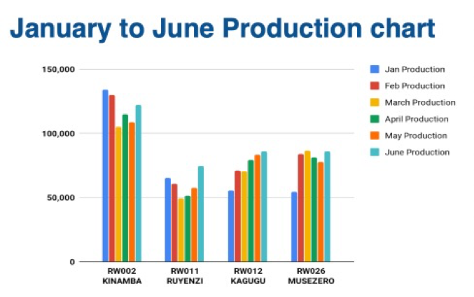 jibu production chart