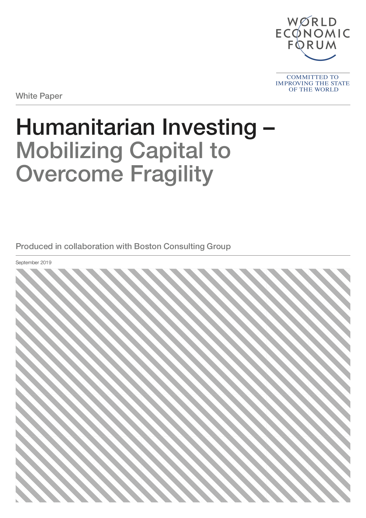 Humanitarian Investing – Mobilizing Capital to Overcome Fragility