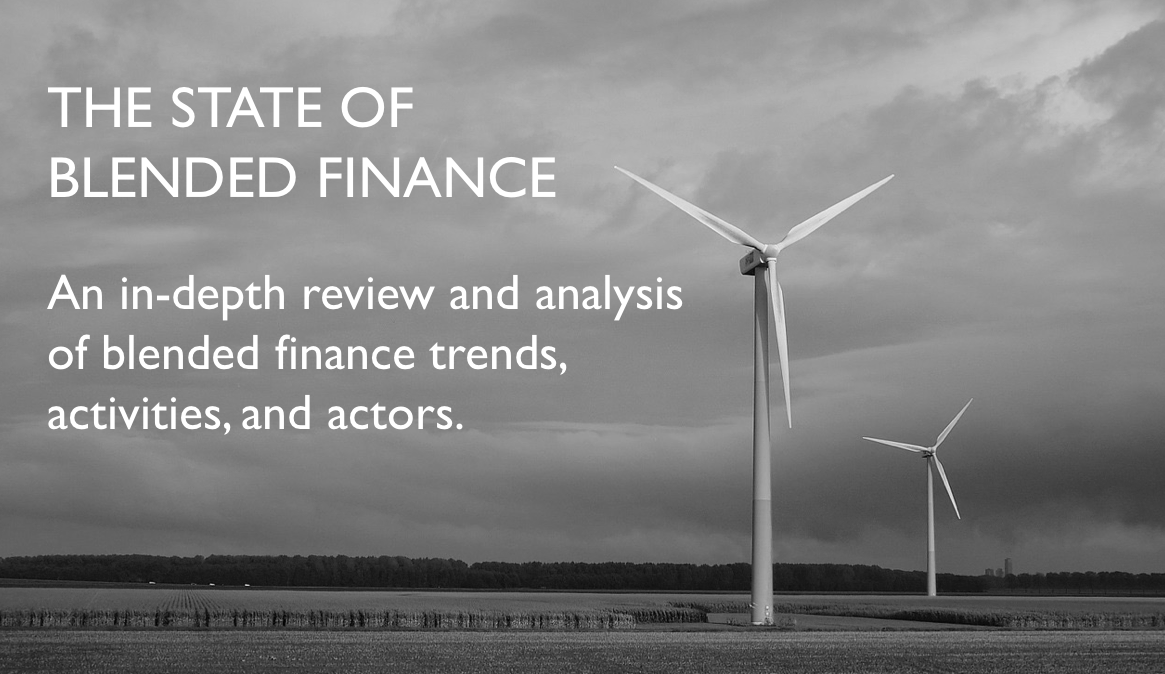 An in-depth review and analysis of blended finance trends, activities, actors, and learnings