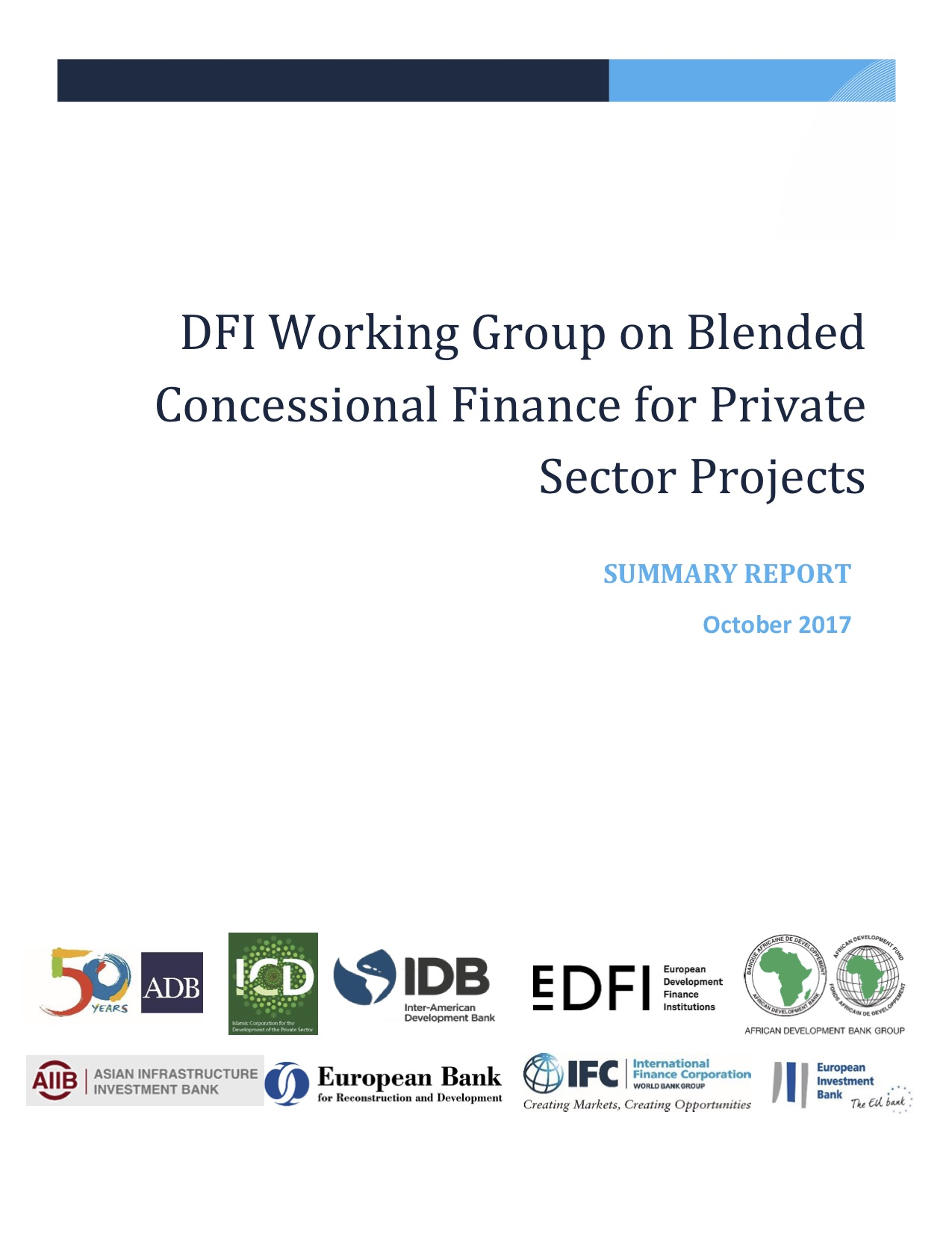 DFI Working Group on Blended Concessional Finance for Private Sector Projects