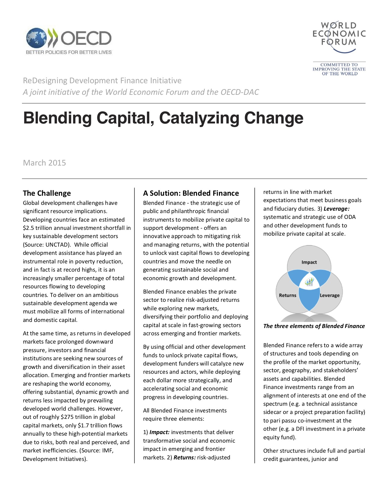Blending Capital, Catalyzing Change