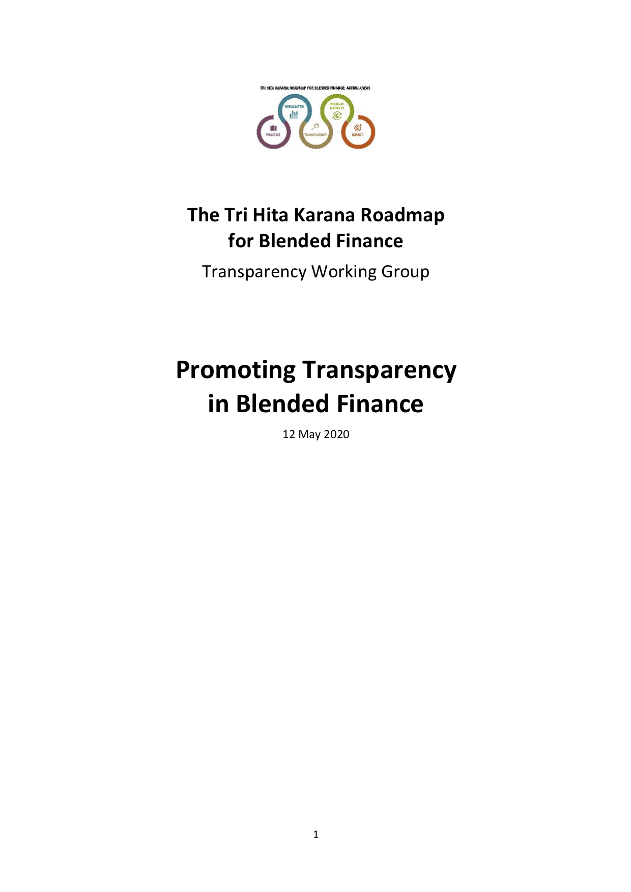 The Tri Hita Karana Roadmap for Blended Finance: Promoting Transparency in Blended Finance