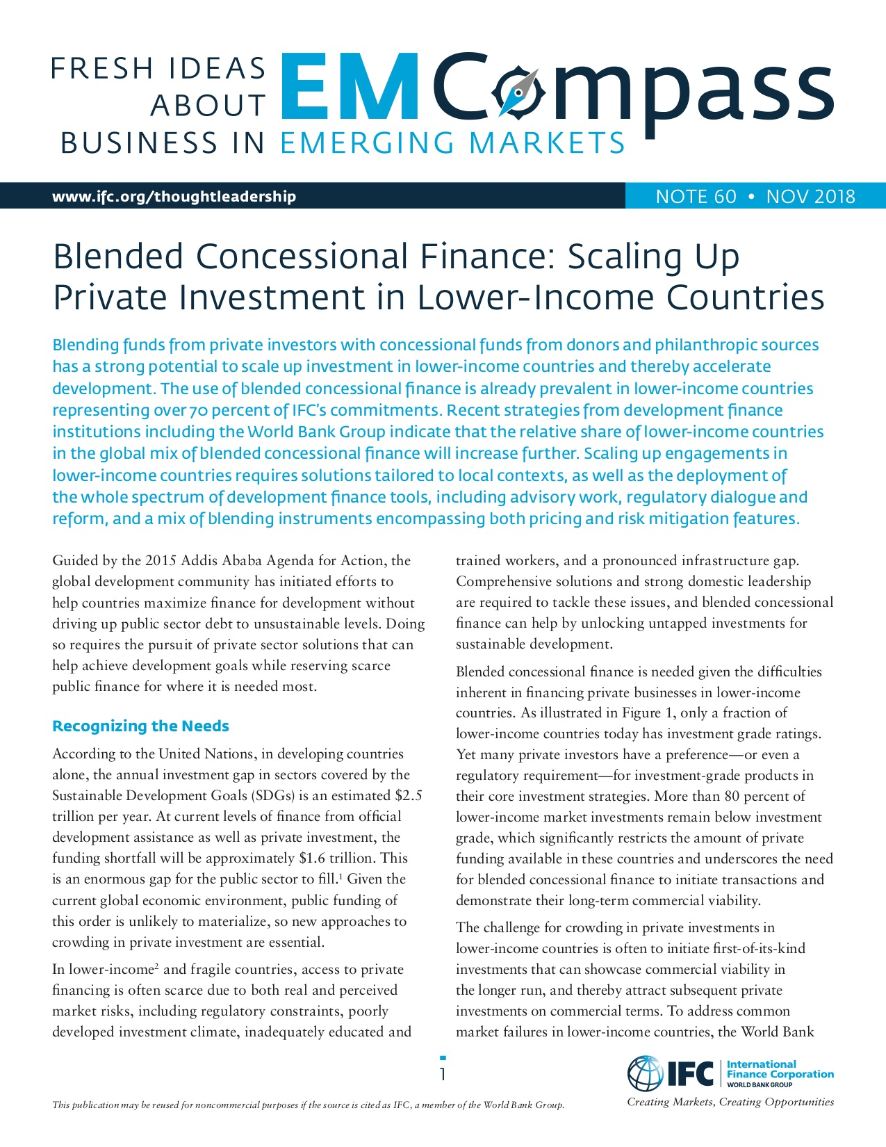 Blended Concessional Finance: Scaling Up Private Investment in Lower-Income Countries