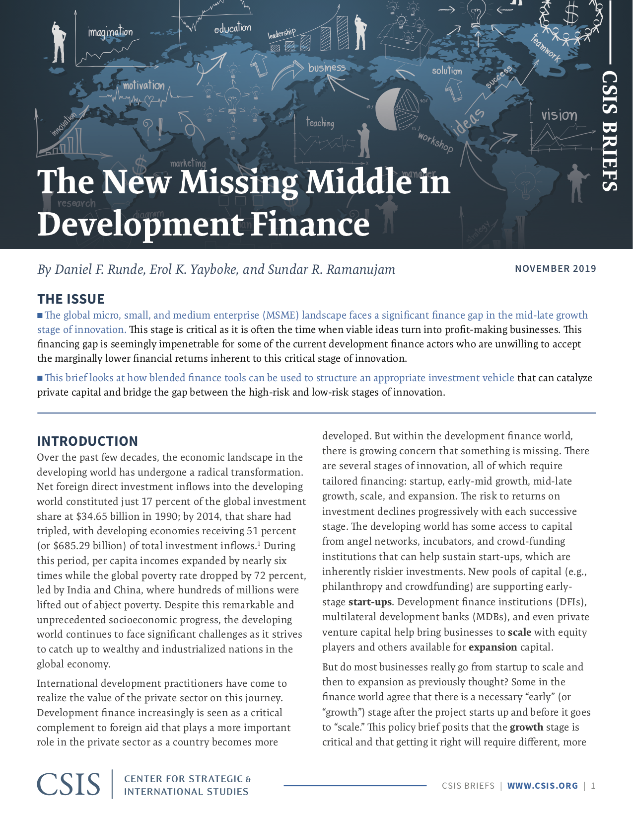 The New Missing Middle in Development Finance