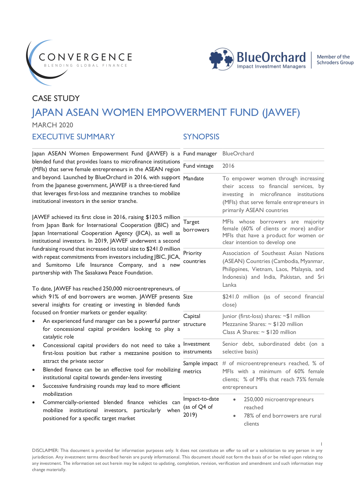 Japan ASEAN Women Empowerment Fund Case Study