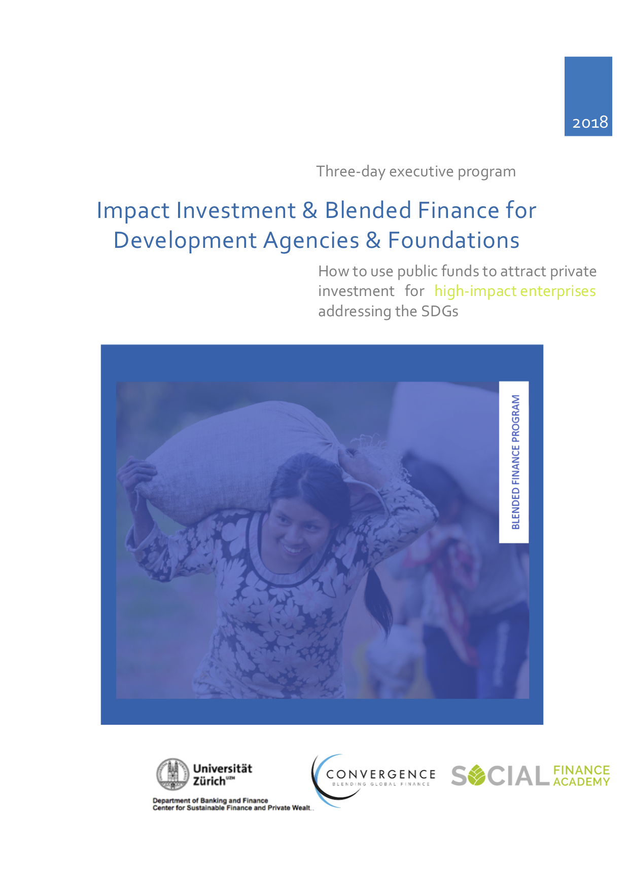Impact Investment & Blended Finance for Development Agencies & Foundations