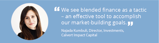 Member Spotlight with Najada Kumbuli of Calvert Impact Capital