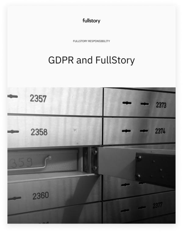GDPR and FullStory