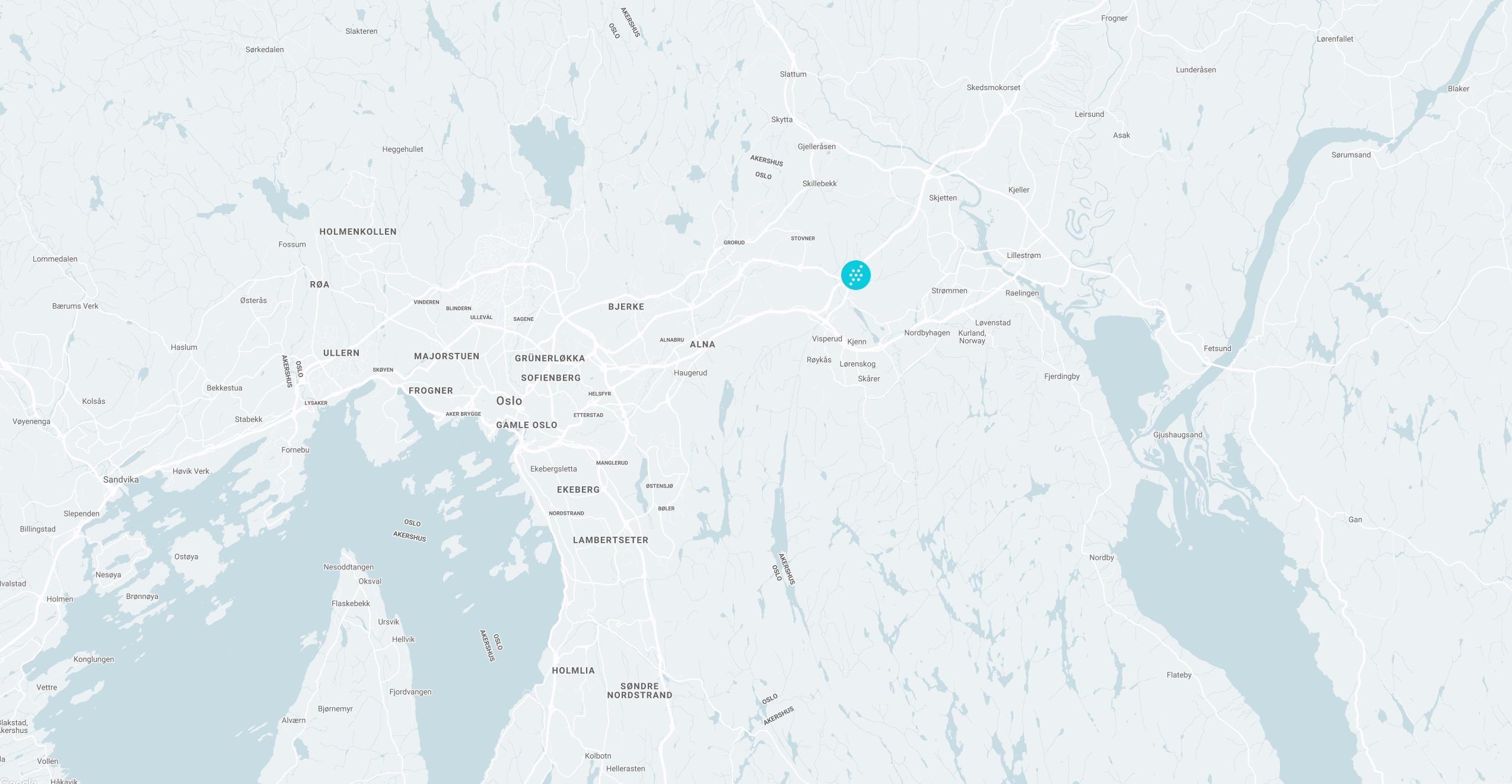Avbildet: Et kart som viser SNØs beliggenhet