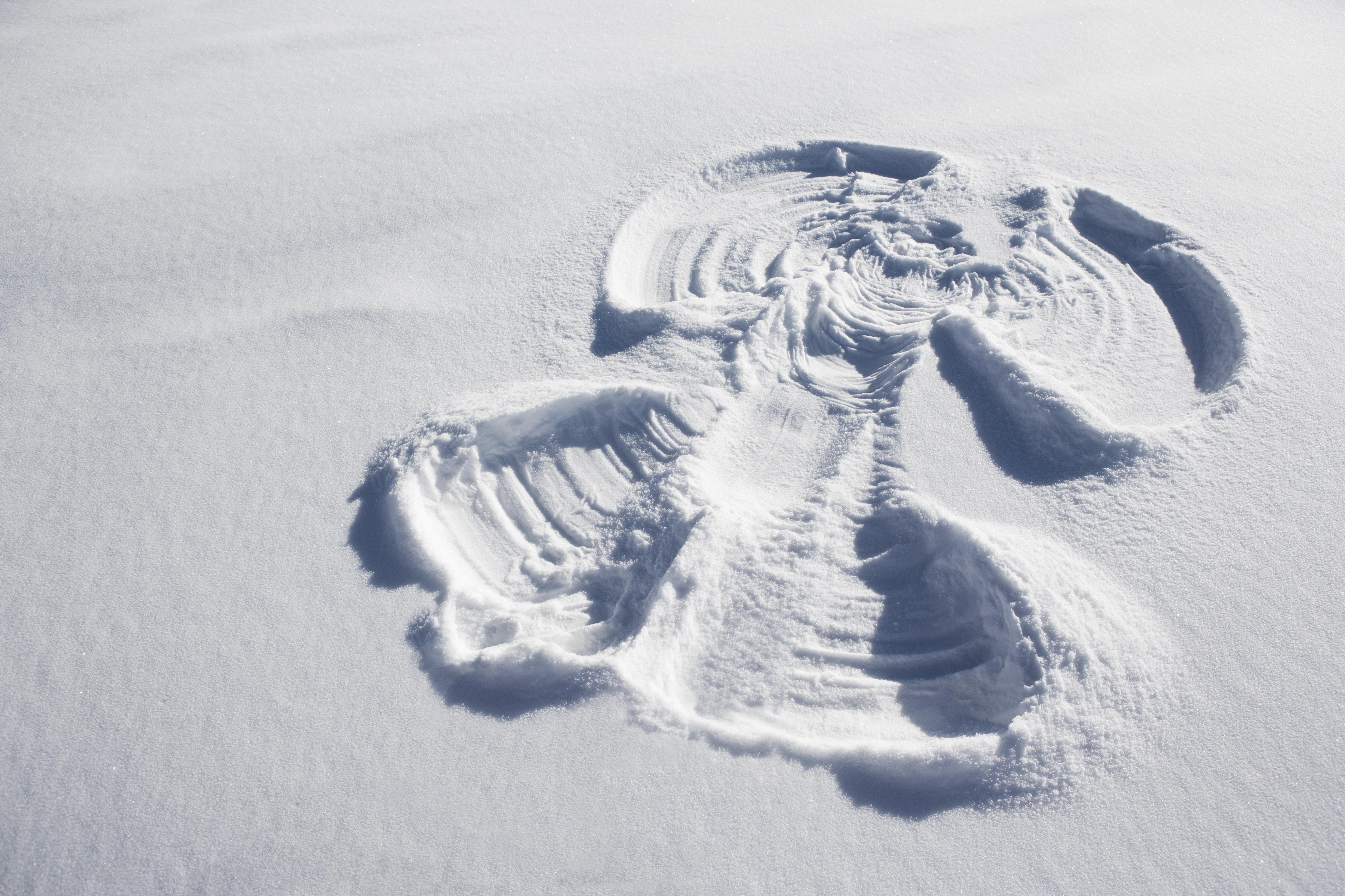 Avbildet: Snøengel