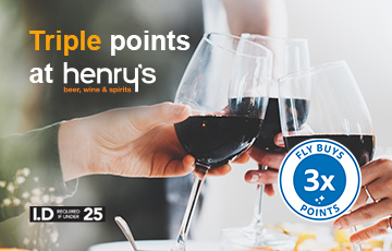 Henry s 3x points offer homepage banner 360 x 230