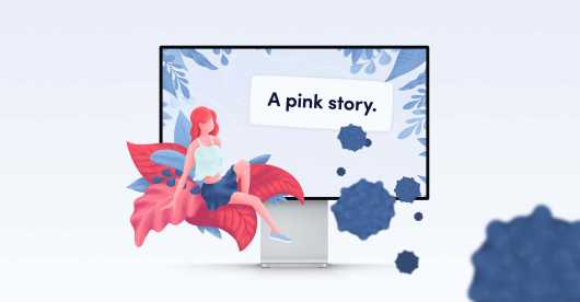 A pink story preview