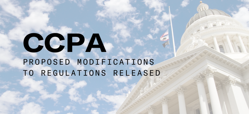 Third Set of Proposed Modifications To CCPA Regulations Published