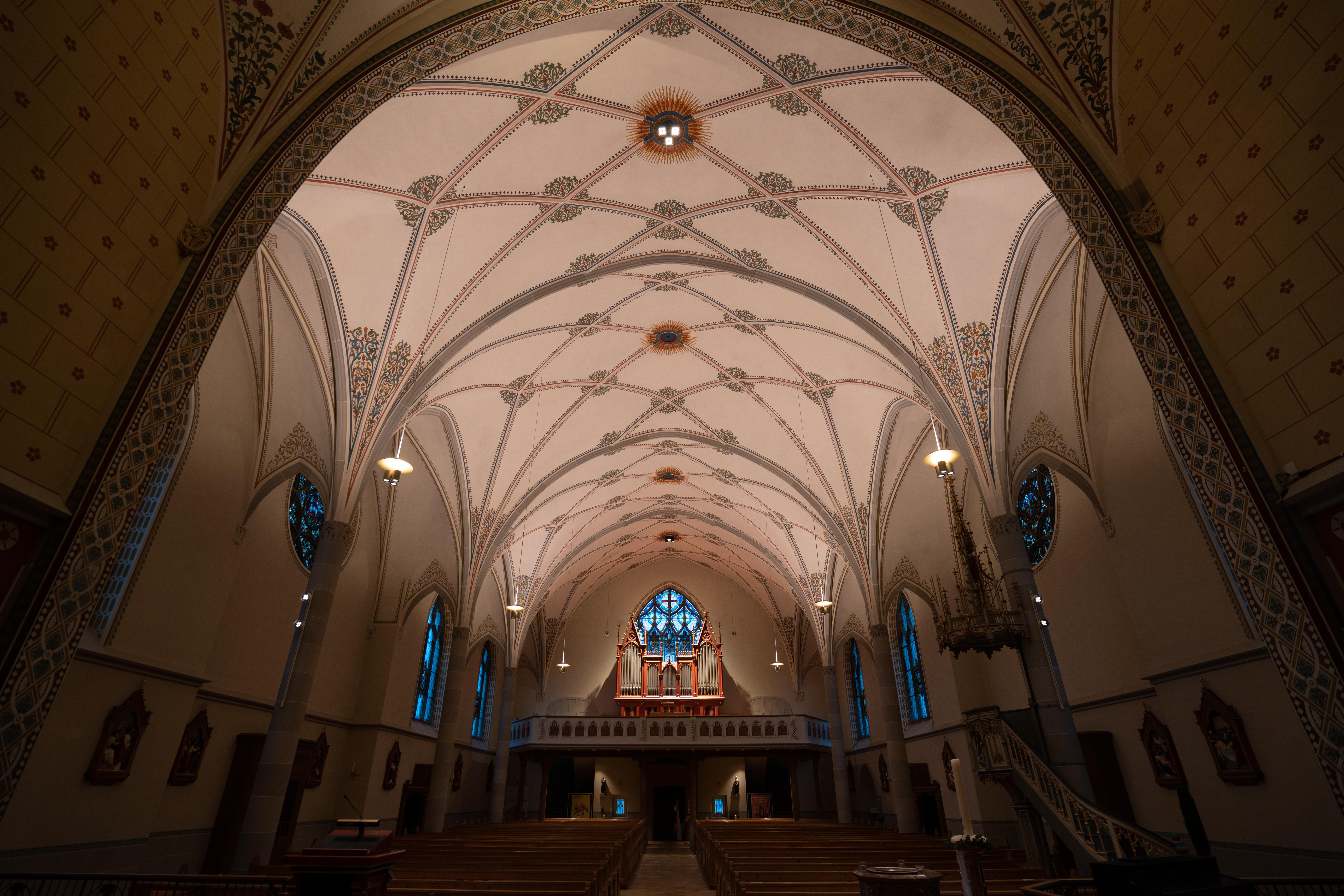 Lichtszene St. Margrethen Deckenbeleuchtung blau