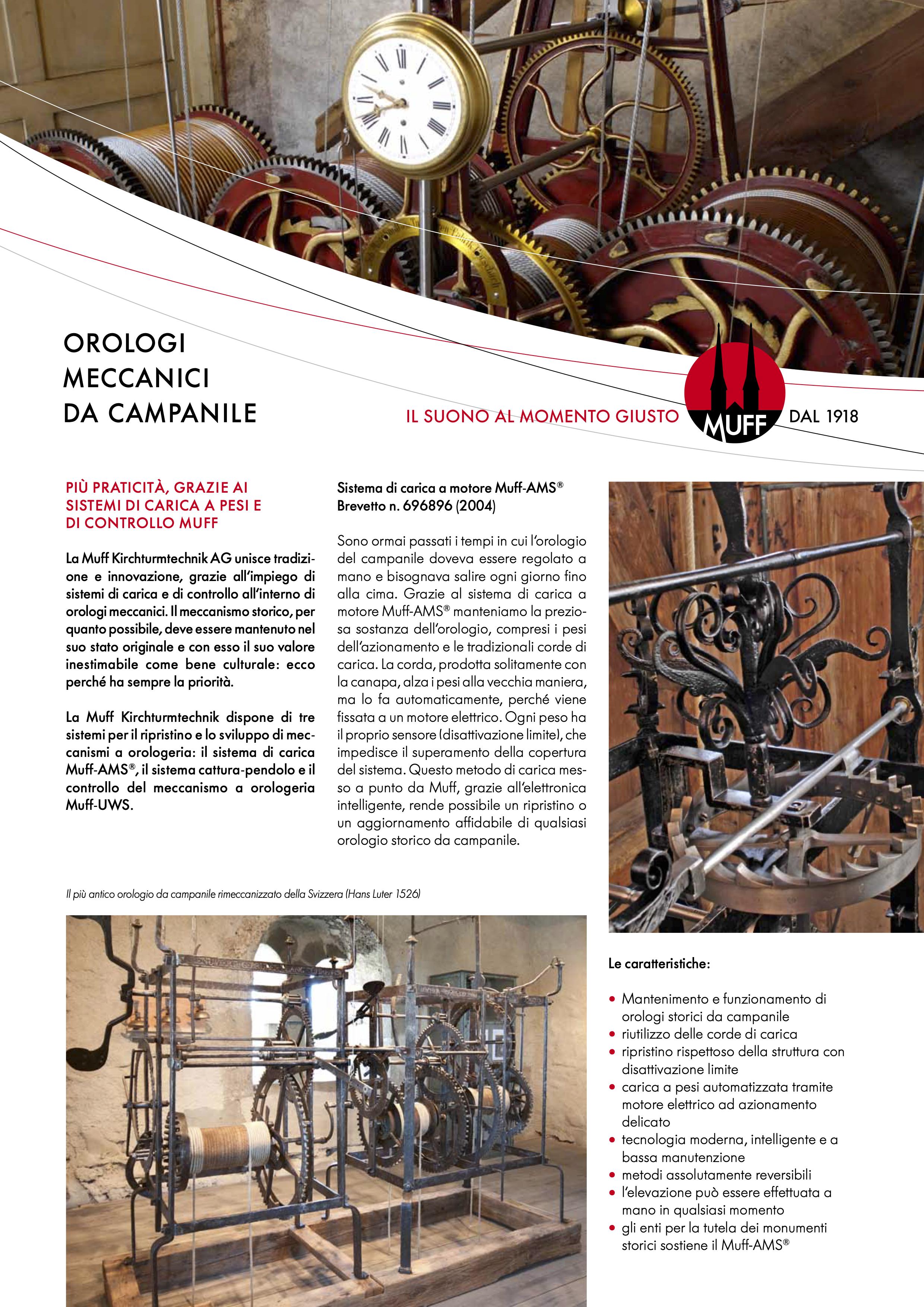 Orologi meccanici da campanile