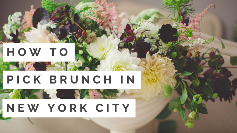 How to Pick Brunch in New York City