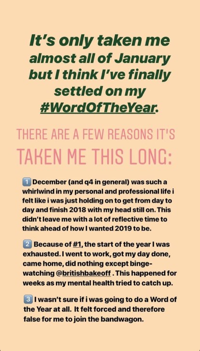 IG Story - Word of the Year