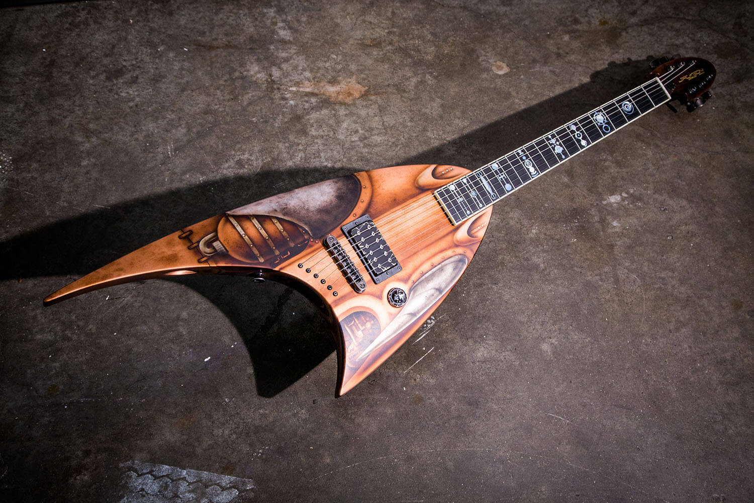 In What He Good Naturedly Referred To As A Beast Of Build Created An Eight String Soloist Model With Innovative 2775 25 Scale Length And