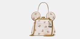 disney x coach minnie mouse kisslock bag