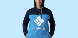man wearing columbia sweater