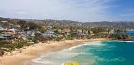 touristy sandy beach