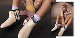woman wearing tan boots