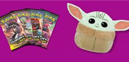pokemon cards and baby yoda