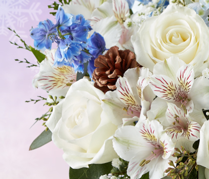 1800 Blue Flowers