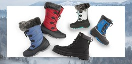 collection of winter boots