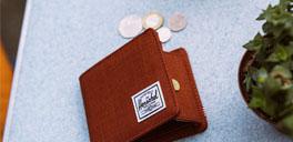 herschel burgundy coin wallet