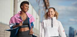 two women in fitness attire